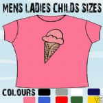ICE CREAM CONE FUNNY T-SHIRT ALL SIZES & COLOURS